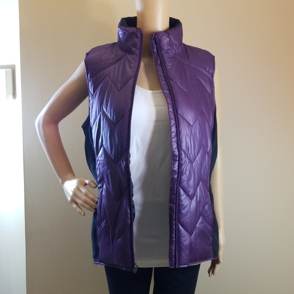 Ideology Jackets & Blazers - NWOT Ideology Purple Puffer Vest. Size Med.